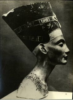 """Bust of Nefertiti (circa 1370 -1330 BC) - The Nazis stole her and for a time she resided in Wiesbaden, Germany.  When she was unpacked by the Monument Men - the American soldiers who tried to sort out art the Nazis had stolen, one man wrote that """"every man in the room fell in love with her."""""""