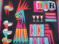 Vintage Tea Towel Cocktail by NeatoKeen on Etsy, $42.00