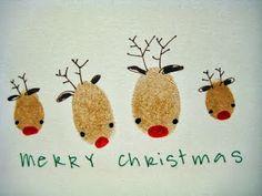 christmas cards, christma card, card making christmas kids, inspir holiday, finger