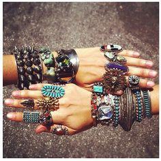 Precious stones - Jewellery pile on