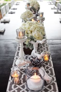 Table runner and center.