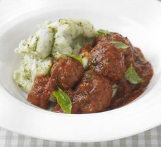 Meatballs with Pesto Mash (just substitute the milk with an alternative and make sure the pesto is intolorent friendly)