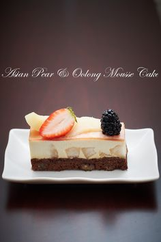 Yue's Handicrafts ~月の工作坊~: Asian Pear & Oolong Mousse Cake
