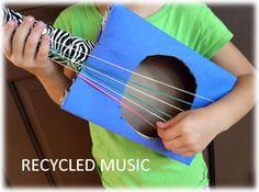 cardboard boxes, guitar crafts for kids, banjos, kid projects, cereal boxes, musical instruments, parent, cardboard guitar, cardboard tubes