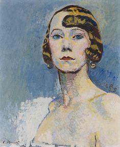Cuno Amiet - Brustbild einer Dame (Irene)
