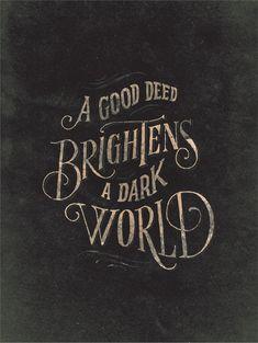good deeds typographic art print