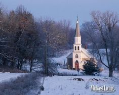 Hauge Lutheran Church in Decorah, Iowa. Click to download this image for your desktop.