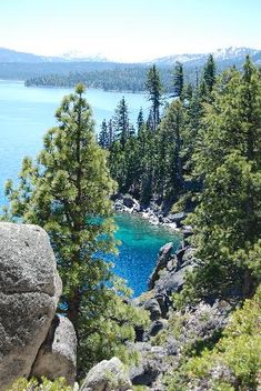 The Rubicon Trail on the California side of Lake Tahoe. South Lake Tahoe was so much fun this Labor Day - this trail was worth every step