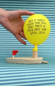 i need to have another boy just so i can make him have a boat birthday party so i can steal this invitation.