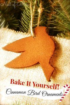 Christmas Cinnamon Bird Ornaments
