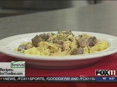 Beef Stroganoff #recipe from WLUK FOX 11 Good Day Wisconsin Cooking with Amy Hanten #recipes #video