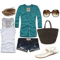 White&Teal.; Summer