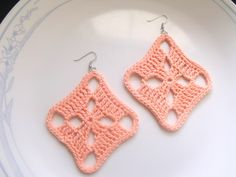 diamonds, diy crochet earrings, diy jewelri, crochet jewelri, diamond earrings, curvi diamond