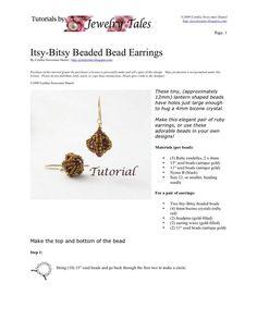 Beaded Bead Tutorial Itsy Bitsy Beaded Bead by JewelryTales, $5.00 I love her work!!