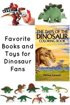 Favorite dinosaur books and toys