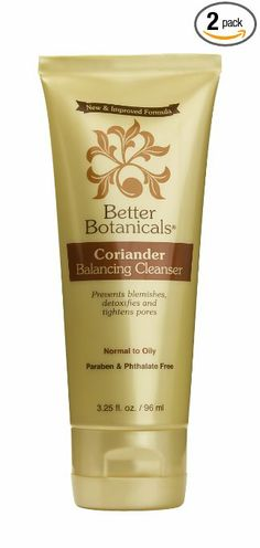 Better Botanicals Coriander Balancing Cleanser {I got a sample of this in the Jan 2014 Vegan Cuts Beauty Box: http://mbsy.co/pqhn. The sample was a little sachet, so I was only able to wash my face with it twice. It seemed as though it did a good job of cleaning my face, but I can't tell whether it did anything to tighten my pores. - Angela @ Vegangela.com}