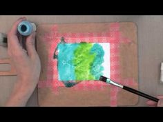 card making video: Watercolor Backgrounds With Sprays - YouTube ... by Jennifer MacGuire ...  lots of good tips ... beautiful results ...