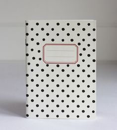 Black Polka Dot Notebook