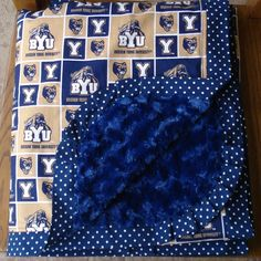 High School or College Graduation Gift - College Themed Minkie Lap Blanket or Quilt...PERSONALIZATION AVAILABLE. $70.00, via Etsy.