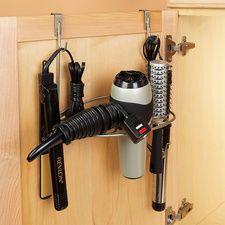 Over-the-Cabinet Styling Rack #HouseholdOrganization #OrganizationIdeas