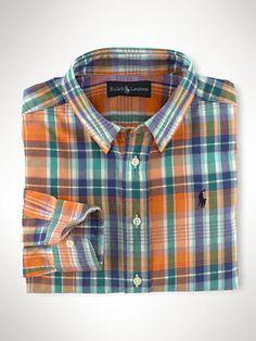 Cotton Blake Plaid Shirt - Sport Shirts  Boys 2–7 - RalphLauren.com