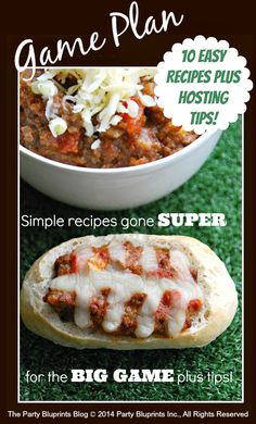 10 Simple Recipe Gone SUPER! Super Bowl Food #SuperBowl #plantoparty #hostsshq