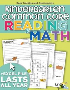 Kindergarten Common Core Reading and Math: Data Tracking and Assessments from KindergartenWorks on TeachersNotebook.com -  (39 pages)  - Assess the fundamental Kindergarten common core standards and track data in Excel.