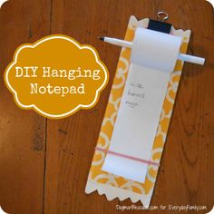 DIY Hanging Notepad Picture