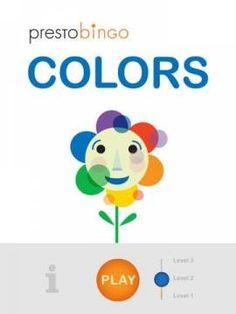 PrestoBingo Colors - an app teaching colors. Appysmarts score: 91/100 http://www.appysmarts.com/application/prestobingo-colors,id_101371.php