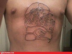 #Seahawks #tattoo #nfl #bad #inked