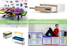 10 Space-Saving Dining Tables for Your Tiny Apartment