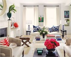 light living room (Betsy Burnham, via Elle Decor)