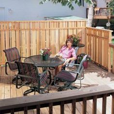 Deck Privacy Fence