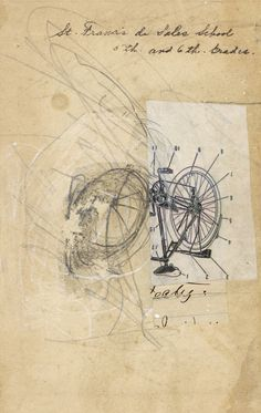 A Collage A Day: Bicycle Parts http://acollageaday.blogspot.fr/