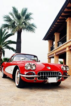 "♂ Red car ""1957 Chevrolet Corvette"" by Shooting Pictures"