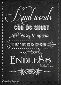 chalkboard+art+quotes | Chalkboard Art #Quote - Kind Words http://www.bellabellavita.com/2013 ...