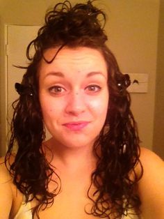 nightly routine to get perfect frizz free hair the next morning. (for my curly haired friends)