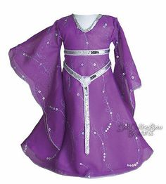 Purple Medieval Costume Gown Dress for American Girl Doll Clothes EXQUISITE
