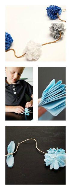 Tissue Paper Garland #DIY