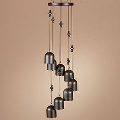 Cascade Wind Chime with Black Metal Bells