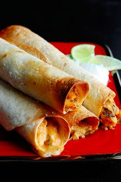 Make ahead baked chicken taquitos