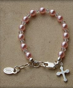 Another great find on #zulily! Sterling Silver Pink Jenna Bracelet by Tiny Treasures  #zulilyfinds