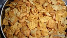 Sweet and Crunchy Snack Mix Close-up