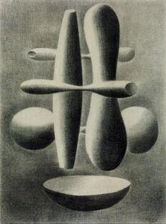 Paule Vézelay 'Forms', 1936 © The estate of Paule Vézelay