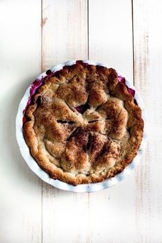 rustic blackberry and peach pie