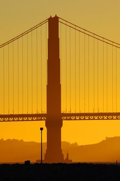 San Francisco, the Golden Gate Bridge at Sunset from the Marina 11