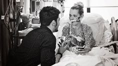 He won her heart, she got new lungs. Hospital proposal's happy ending