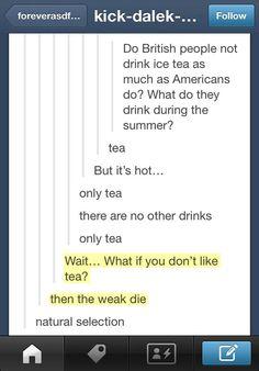 British people and tea…