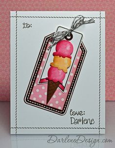 Ice Cream Tag - with video tutorial