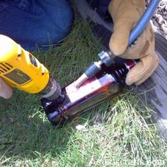 How to Make a Liquor Bottle Lamp Suzi's Crafts